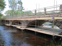 Fogning av granitbro med våtsläckt ölandskalk